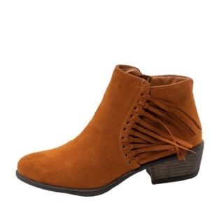 BAMBOO FRINGE ANKLE BOOTIES | Sz. 8.5